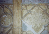 Restoration of an old gothic style plaster wall