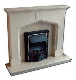 Grand Plain Gothic Plaster Fire Surround West Yorkshire