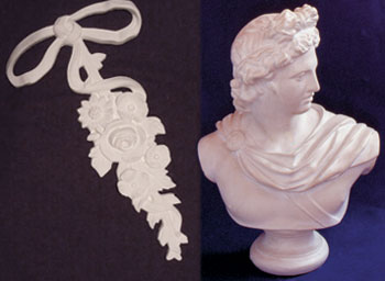 Plaster Busts and Plaster Bows