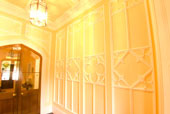 Gothic Style Panelled Plaster wall following full restoration